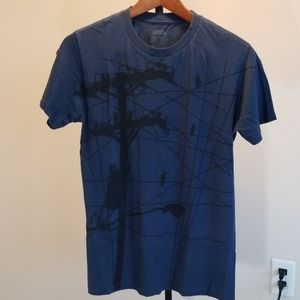 Blue graphic T